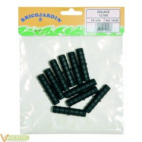 Enlace goteo 12mm 10 pz