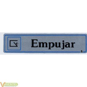 Placa adh empujar 175x040mm