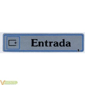 Placa adh entrada 175x040mm