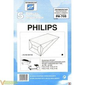 Bolsa asp philips 5 pz 910705