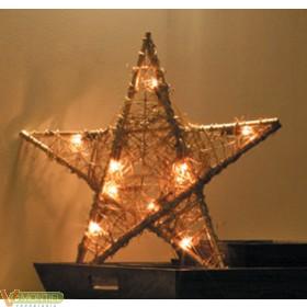Luz estrella int. 50x50x4cm