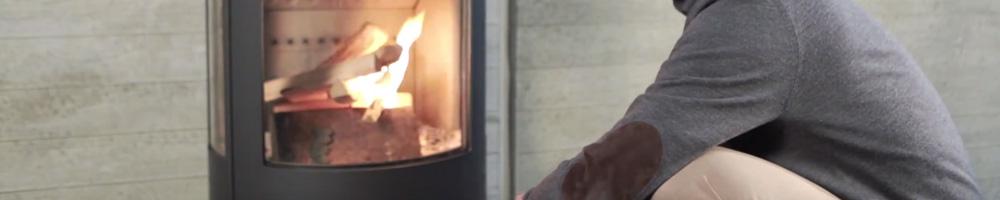 estufa de leña panadero o hergom para calentar su hogar