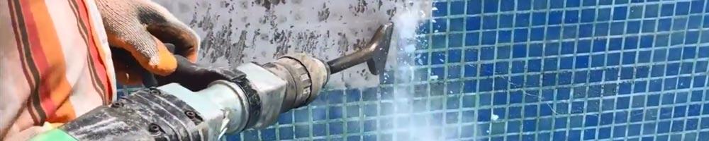 martillos percutores con sistema electroneumático combinado de marcas Makita y Bosch