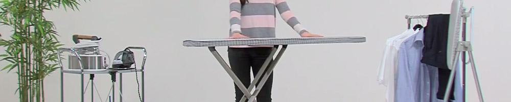 tabla de planchar plegable es la solución al espacio, plegue la tabla una vez termine de planchar