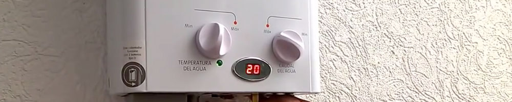 termo de gas de gran potencia para calentar el agua de manera rápida