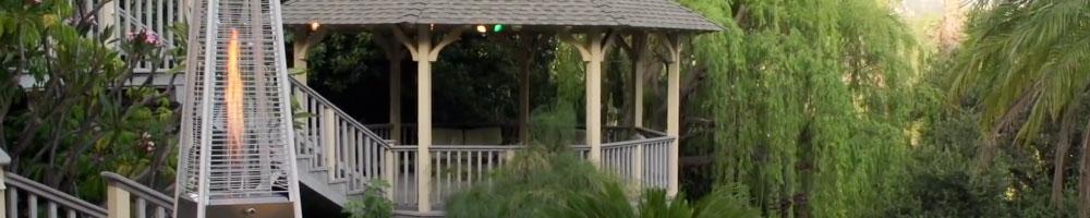 estufa gas exterior para espacios abiertos como terrazas o jardines