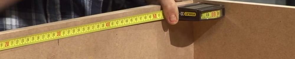 flexometro stanley para medir en trabajos de bricolaje