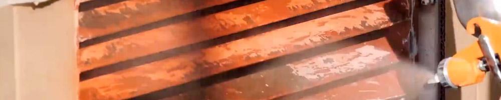 pintura antióxido para combatir el óxido de los metales expuestos al sol y la lluvia