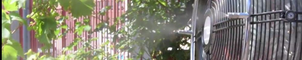ventilador nebulizador para terraza